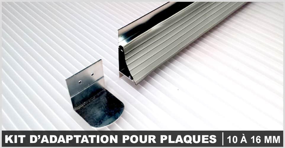 kit d' adaptation pour plaque 10 a 16 mm