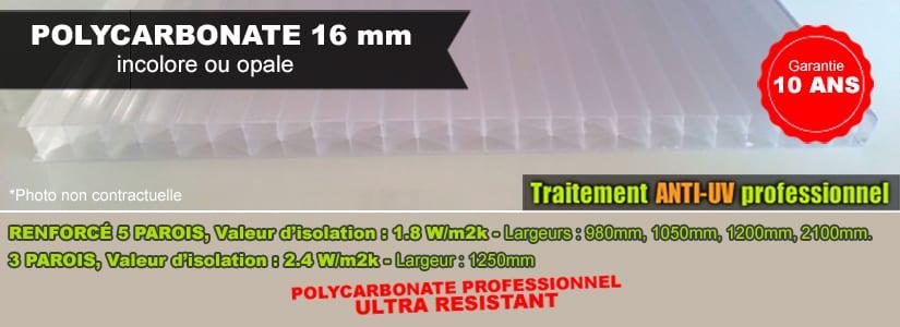 polycarbonate 16mm anti uv