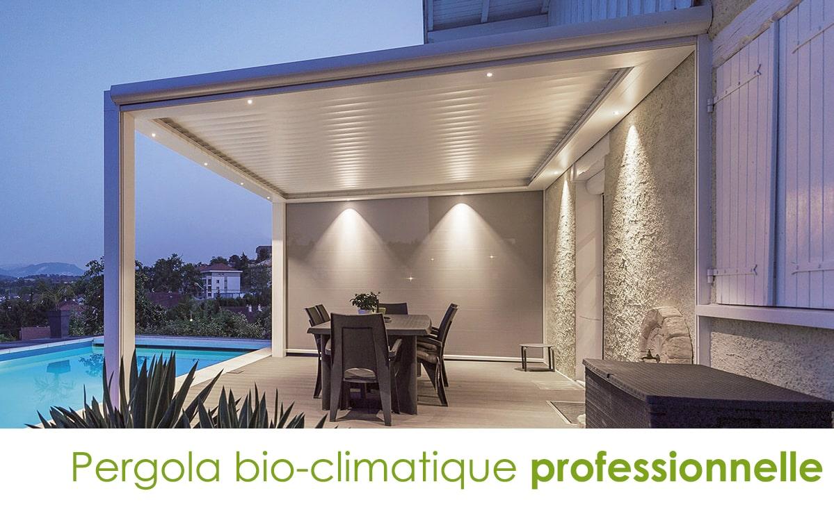 pergola bioclimatique a lames professionnelle